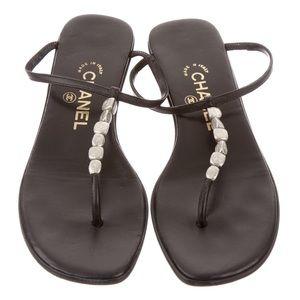 Authentic Chanel Flip Flops Sandals